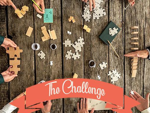 Het logo van The Challenge het teamuitje