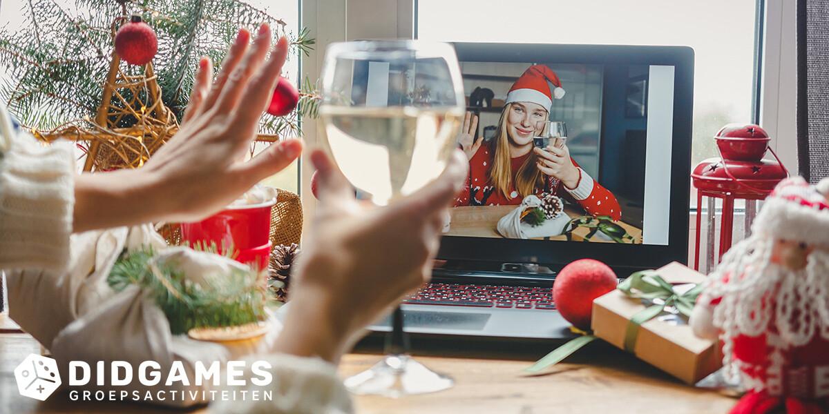 online kerstborrel organiseren